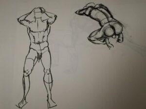Croquis tegning